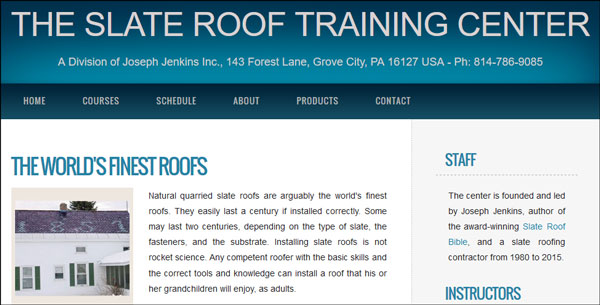 Wonderful The Slate Roof Training Center   A Division Of Joseph Jenkins Inc.
